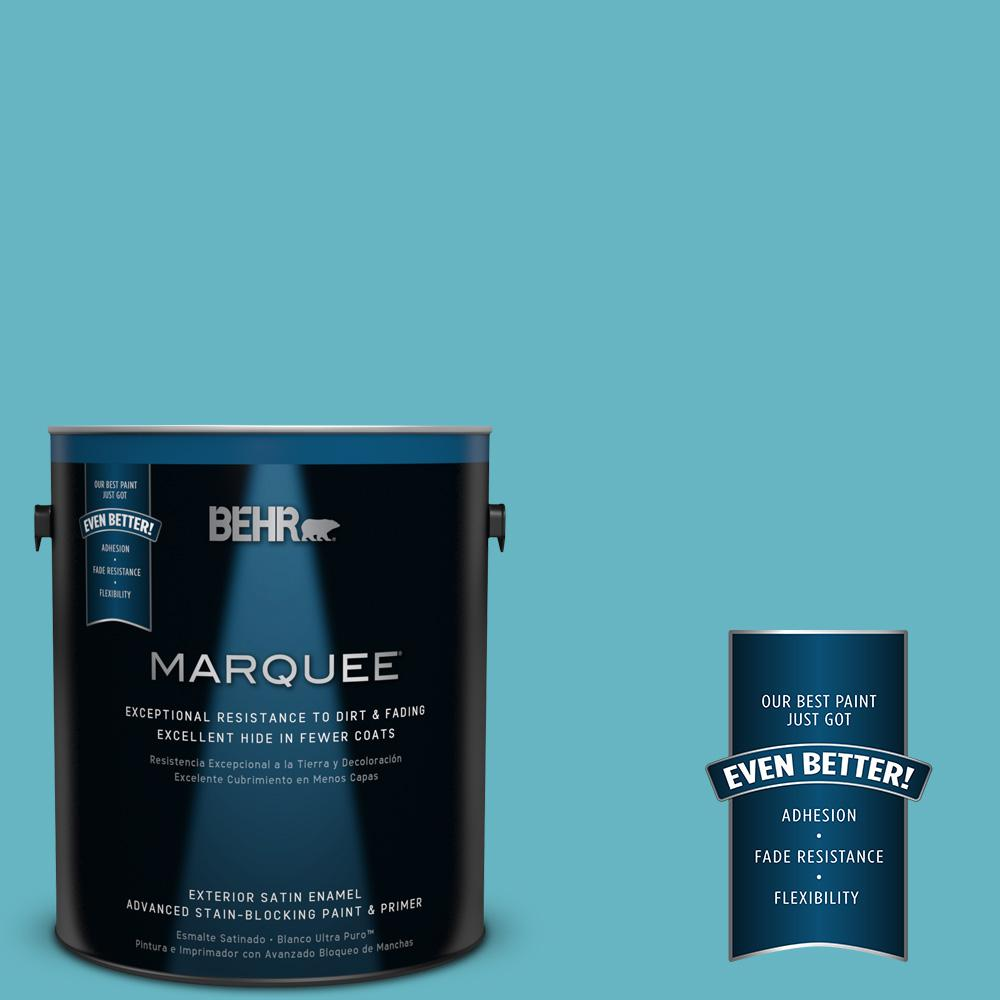 BEHR MARQUEE 1-gal. #520D-5 Tropical Tide Satin Enamel Exterior Paint