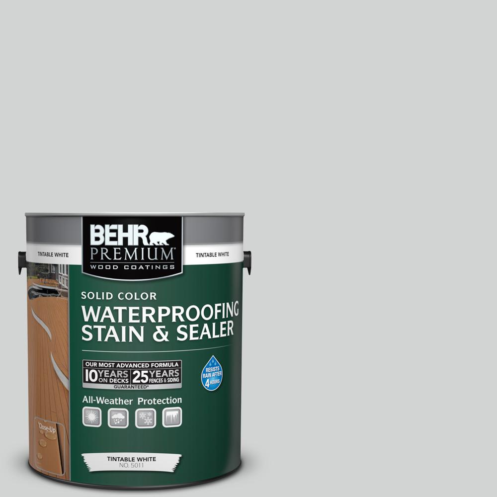 1 gal. #780E-3 Sterling Solid Color Waterproofing Exterior Wood Stain and