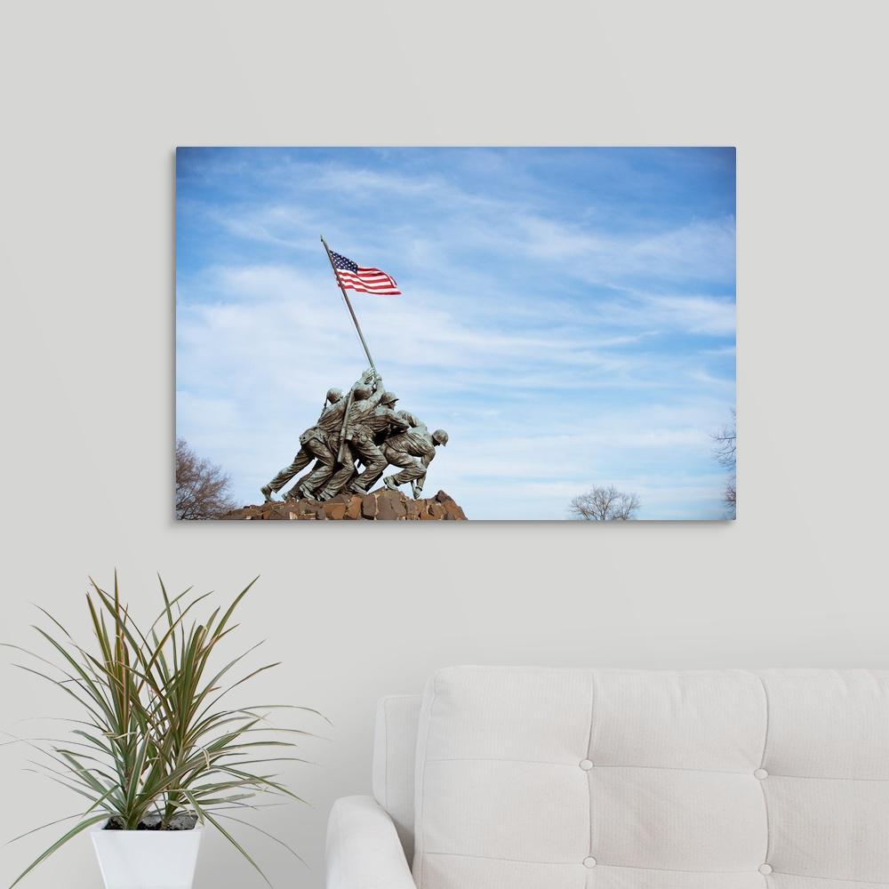 """Marine Corps War Memorial, Washington, DC"" by Circle Capture Canvas Wall Art"
