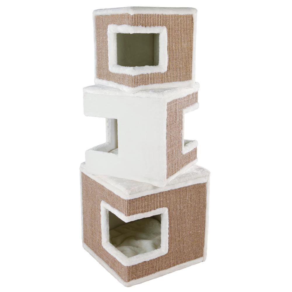 Trixie White/Brown Lilo Modular 3-Story Cat Tower