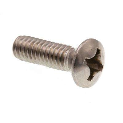 #12-24 x 3/4 in. Grade 18-8 Stainless Steel Phillips Drive Oval Head Machine Screws (100-Pack)