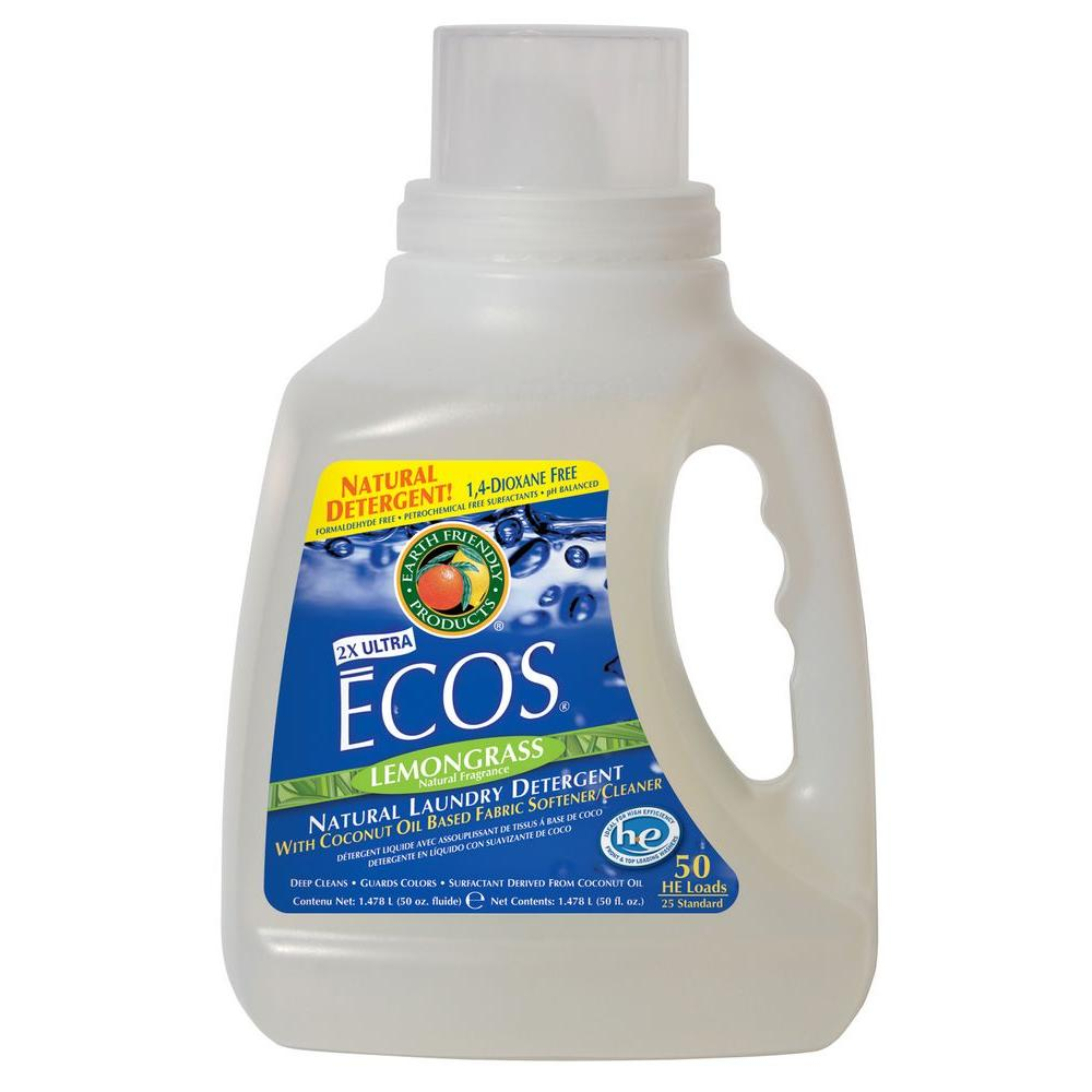 Earth Friendly Products 50 oz. Lemongrass Scented Liquid Laundry Detergent