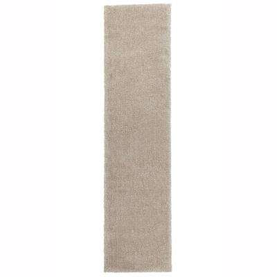 Ethereal Shag Cream Beige 2 ft. x 8 ft. Indoor Runner Rug
