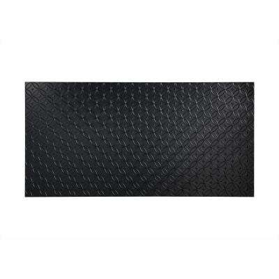 Rings 96 in. x 48 in. Decorative Wall Panel in Black