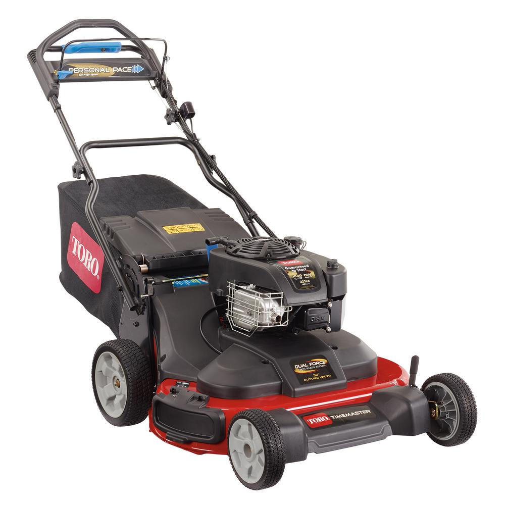 Toro TimeMaster 30 in. Briggs and Stratton Personal Pace Self-Propelled Walk-Behind Gas Lawn Mower with Spin-Stop