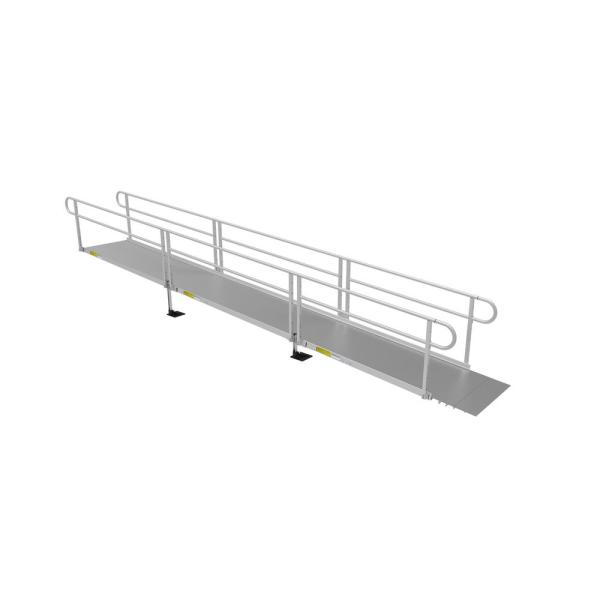 PATHWAY 3G 22 ft. Wheelchair Ramp Kit with Solid Surface Tread and Two-line Handrails