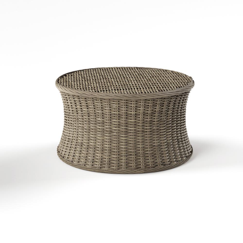 Macon Brown Rattan Coffee Table