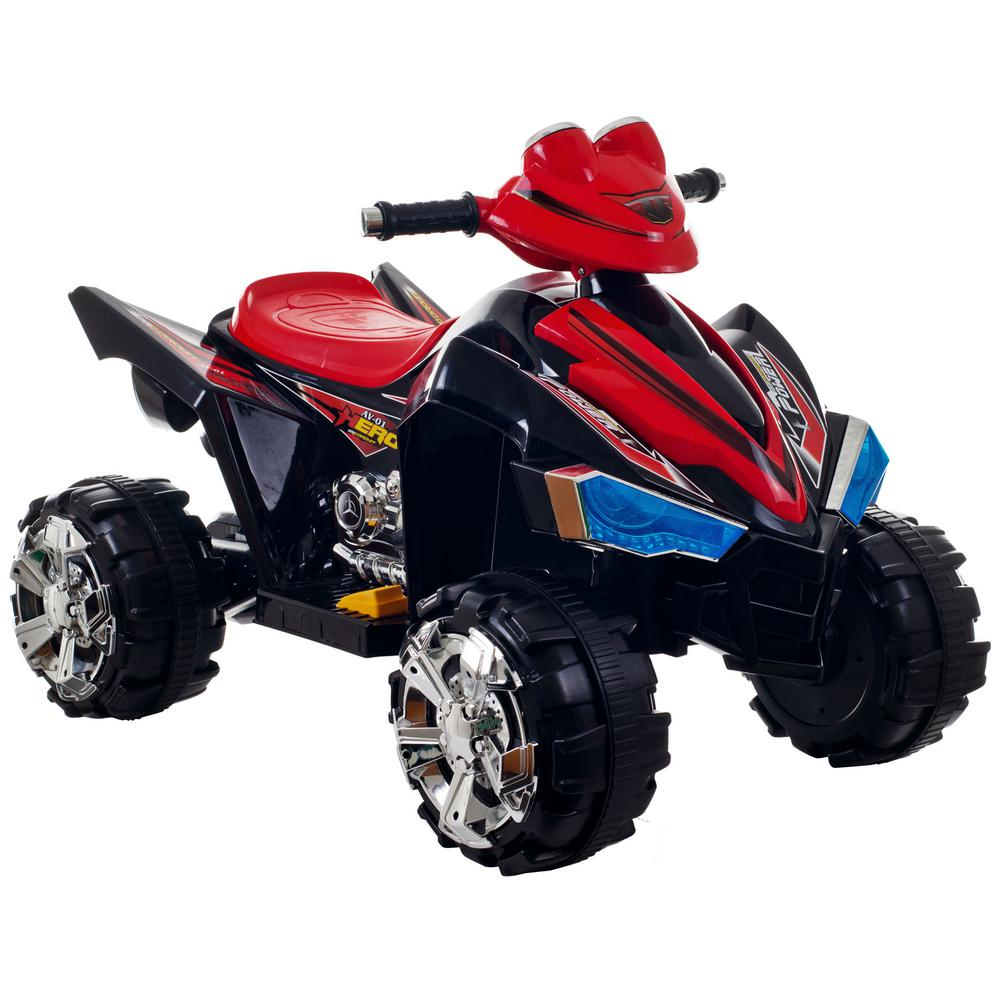 Battery Operated Ride On Toys >> Lil Rider Battery Powered Ride On Toy 4 Wheeler In Black Red