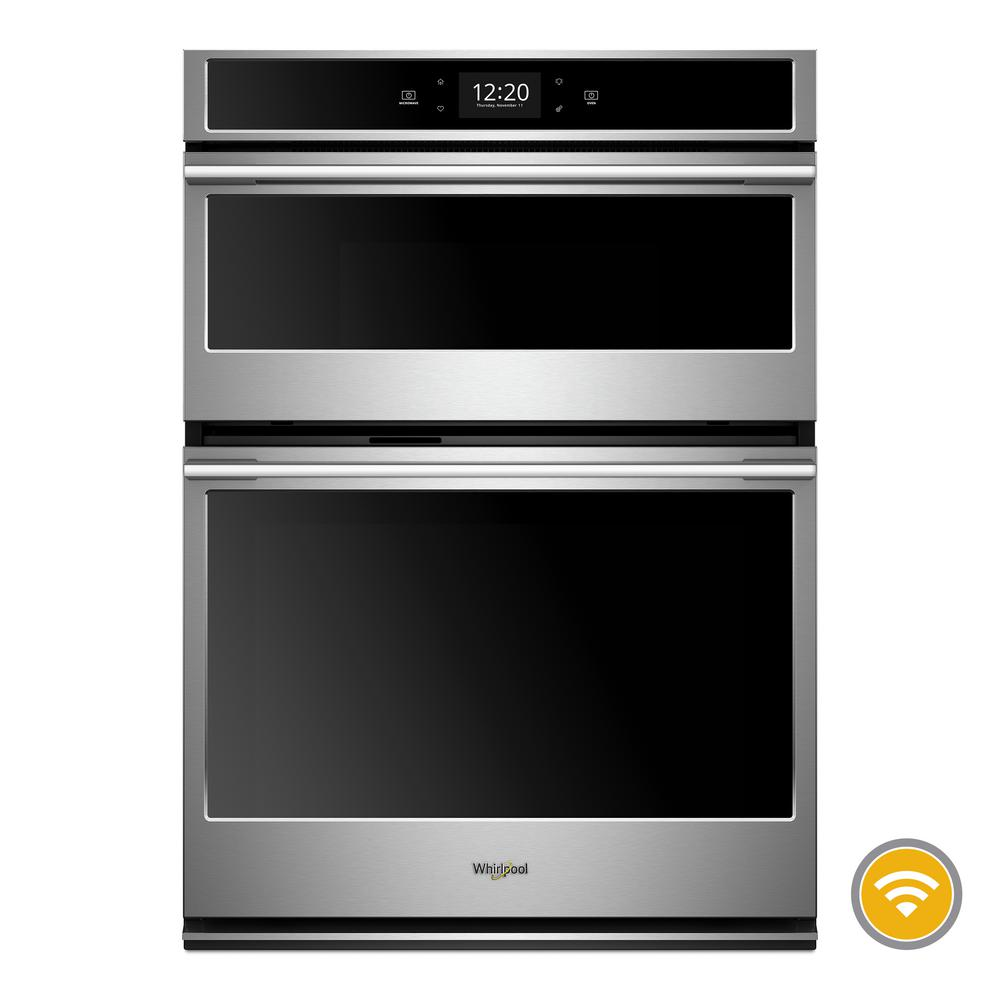Whirlpool 6.4 cu. ft. Smart Combination Electric Wall Oven with Built-In Microwave in Fingerprint Resistant Stainless Steel