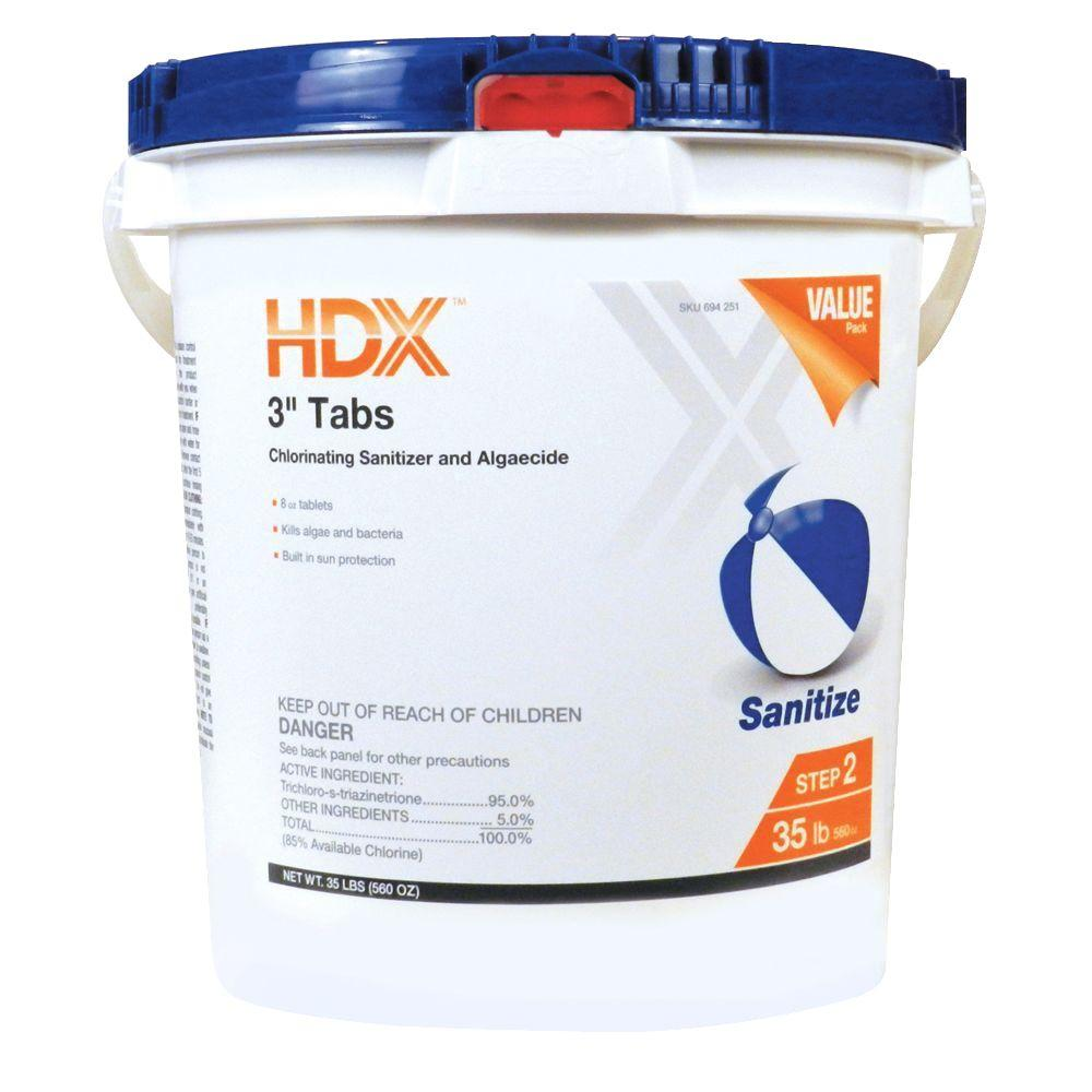 Hdx 35 Lb 3 In Chlorine Tabs 26438947411 The Home Depot