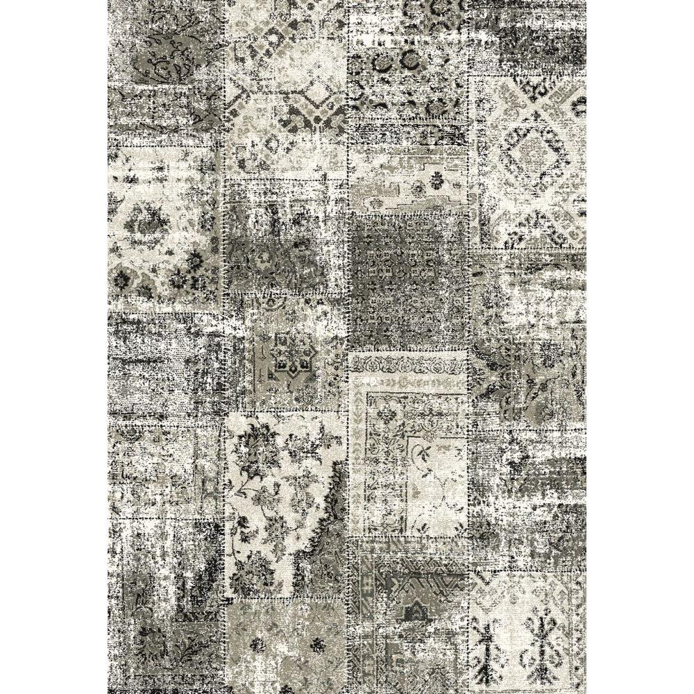 Infinity Black/Silver 7 ft. 10 in. x 11 ft. 2 in. Indoor Area Rug
