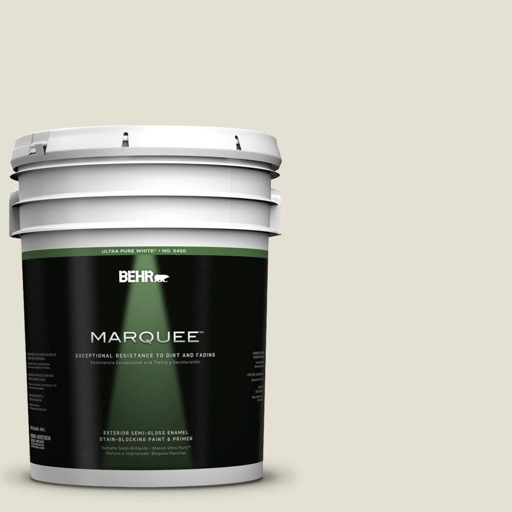 BEHR MARQUEE 5-gal. #PPF-15 Crushed Limestone Semi-Gloss Enamel Exterior Paint