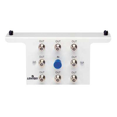 Structured Media 1x8 (8-Way) 2.05GHz White Passive Video Splitter Module