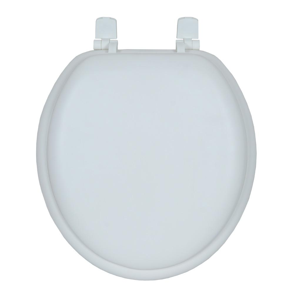 Glacier Bay Soft Round Closed Front Toilet Seat in White