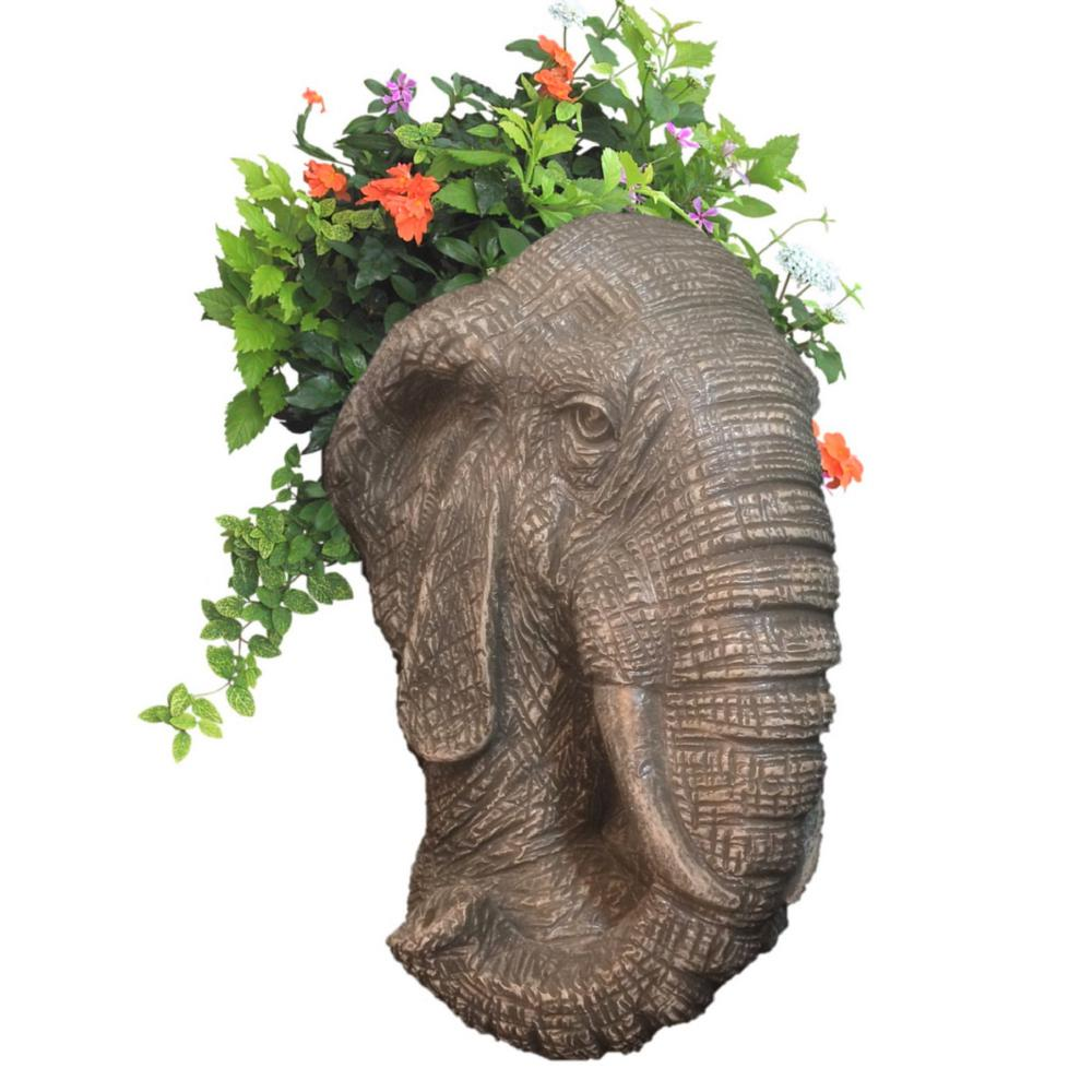 Garden Statues Home Depot: HOMESTYLES 18 In. Graystone Elephant Muggly Mascot Animal
