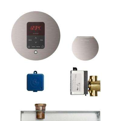 MS Butler Package with iTempo Pro Round Programmable Control for Steam Bath Generator in Brushed Nickle