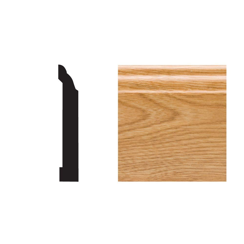Royal Mouldings 5523 29/64 in. x 3-1/4 in. x 8 ft. PVC Composite Imperial Oak Colonial Base Moulding
