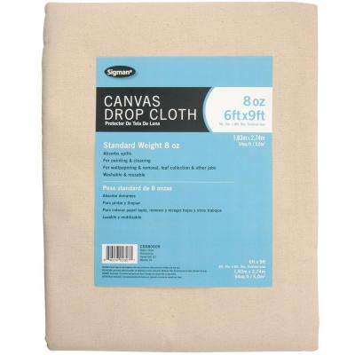 5 ft. 9 in. x 8 ft. 9 in., 8 oz. Canvas Drop Cloth