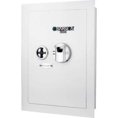 White Biometric Wall Safe