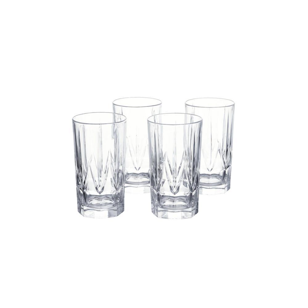Bellfast 17.5 fl. oz. Lead-Free Crystal Highball Glasses (Set of 4)