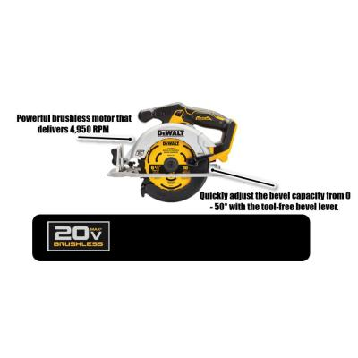 20-Volt MAX Brushless Cordless 6-1/2 in. Circular Saw (Tool-Only)