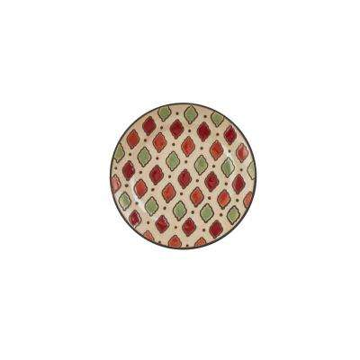 Spice Geo Multicolor Salad Plate (Set of 4)