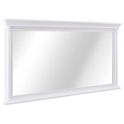Stousse 60 in. W x 32 in. H Framed Wall Mirror in White