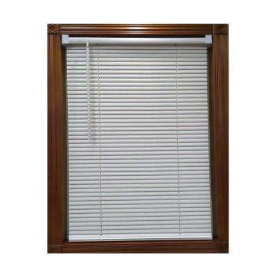 White Cordless 1 in. Vinyl Mini Blind - 71 in. W x 64 in. L