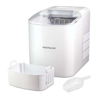 26 lb. White Automatic Portable Ice Maker in White