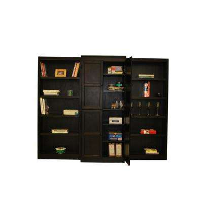 3-Piece Espresso Wall and Storage System (15-Shelves)