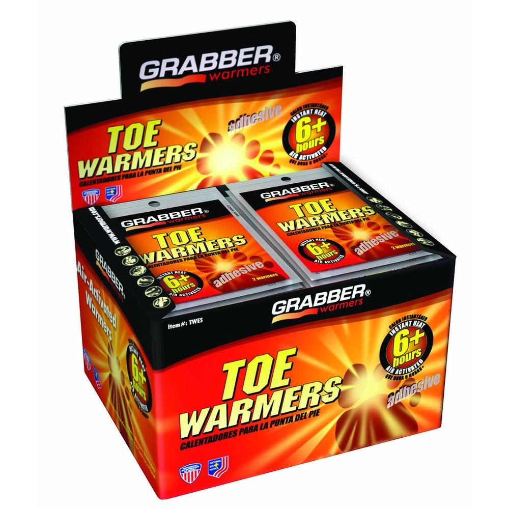 Grabber Air Activated Toe Warmer 6+ Hours - Box of 40 Pair