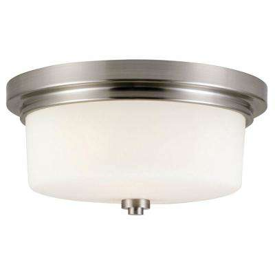 Aubrey 2-Light Satin Nickel Ceiling Mount Light