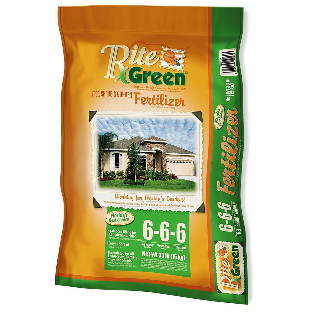 RITE GREEN 33 lb  Organic Tree, Shrub and Garden Fertilizer