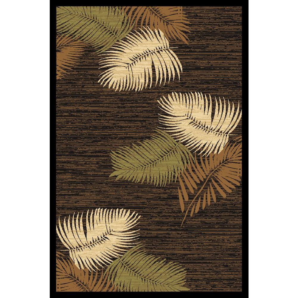 LA Rug Falling Leaves Multi-Color Crown Collection 5 ft. x 7 ft. Area Rug