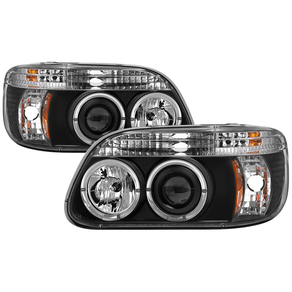 Ford Explorer 95 01 1pc Projector Headlights Led Halo Black High H1 Included Low