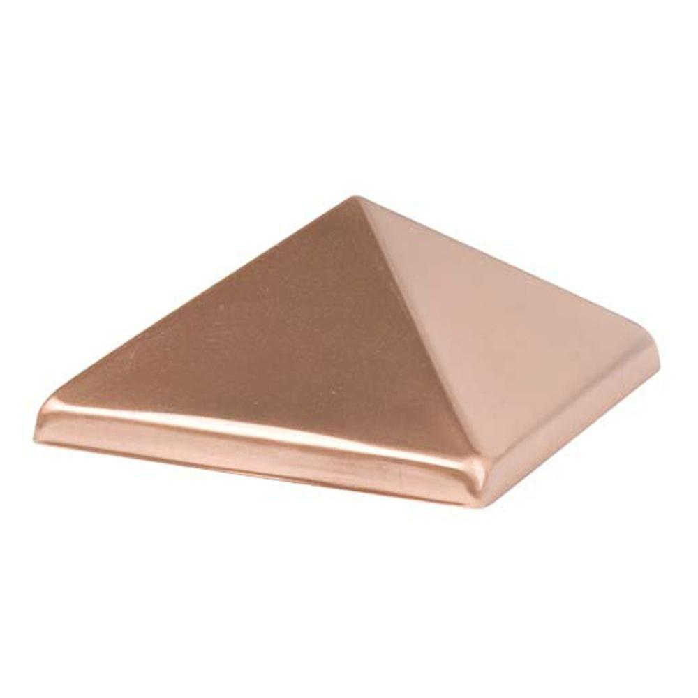 Waddell 4 in. x 4 in. Copper Top Pyramid Post Cap