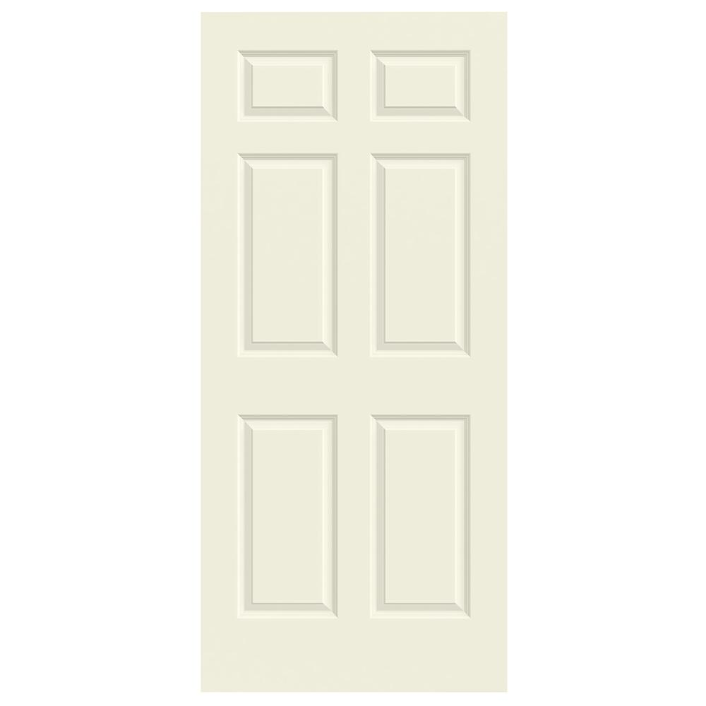 36 in. x 80 in. Colonist Vanilla Painted Textured Molded Composite