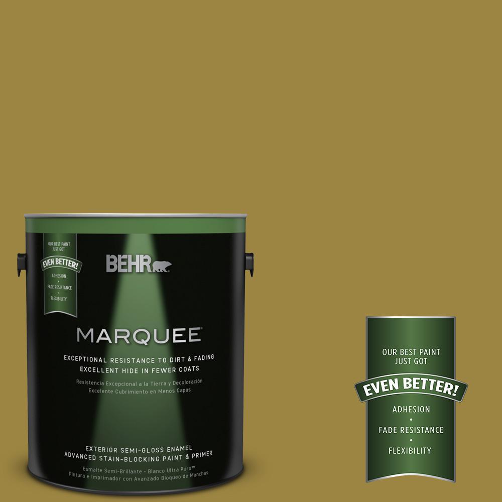 BEHR MARQUEE 1-gal. #UL180-3 Madagascar Semi-Gloss Enamel Exterior Paint