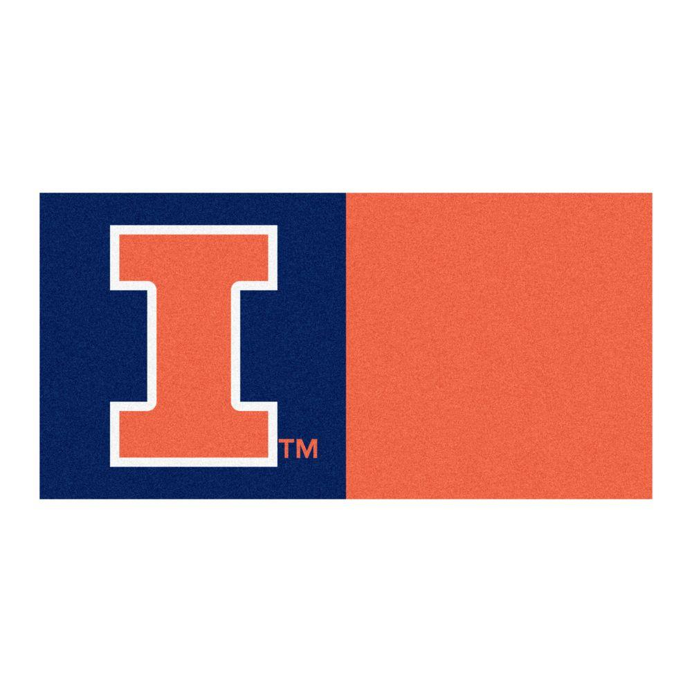 NCAA - University of Illinois Navy Blue and Orange Nylon 18