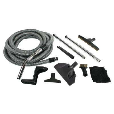 Complete Accessory Kit with Metal Wands for Central Vacuums