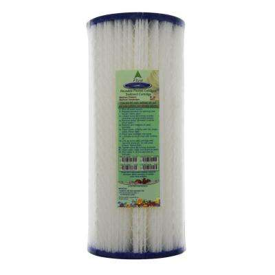 9-3/8 in. x 4-5/8 in. Reusable Pleated Water Filter