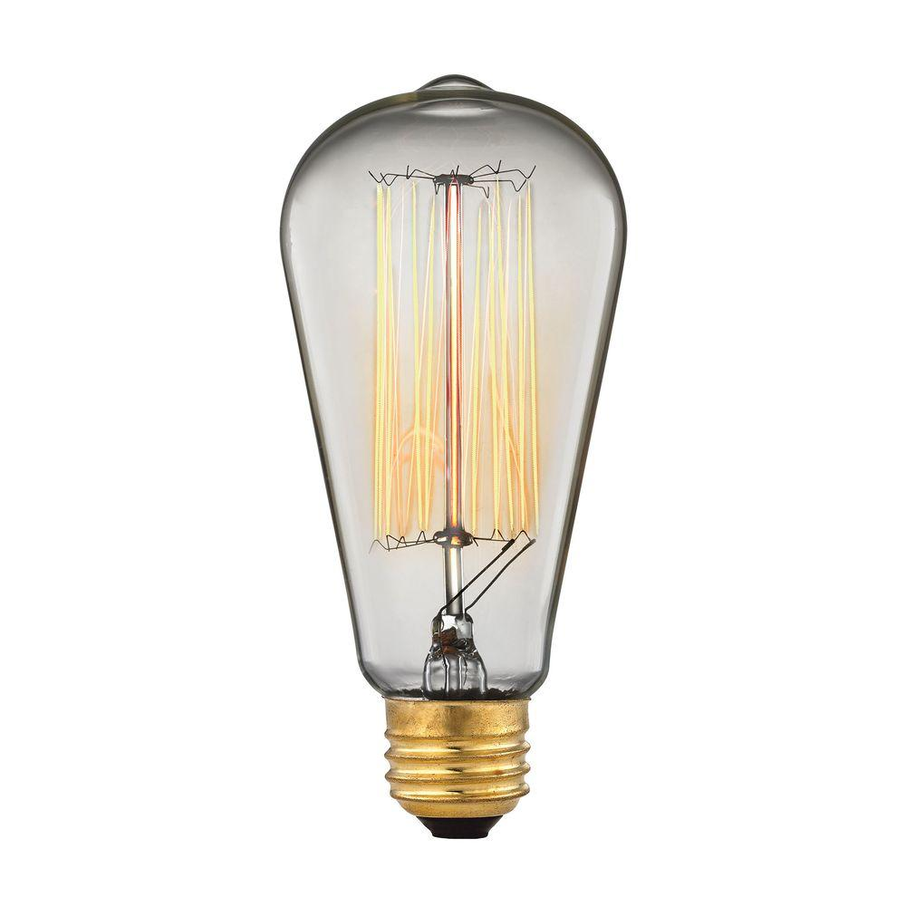 Titan Lighting 60 Watt Incandescent A19 Ogden Vintage Filament Light Bulb Vintage Style Light
