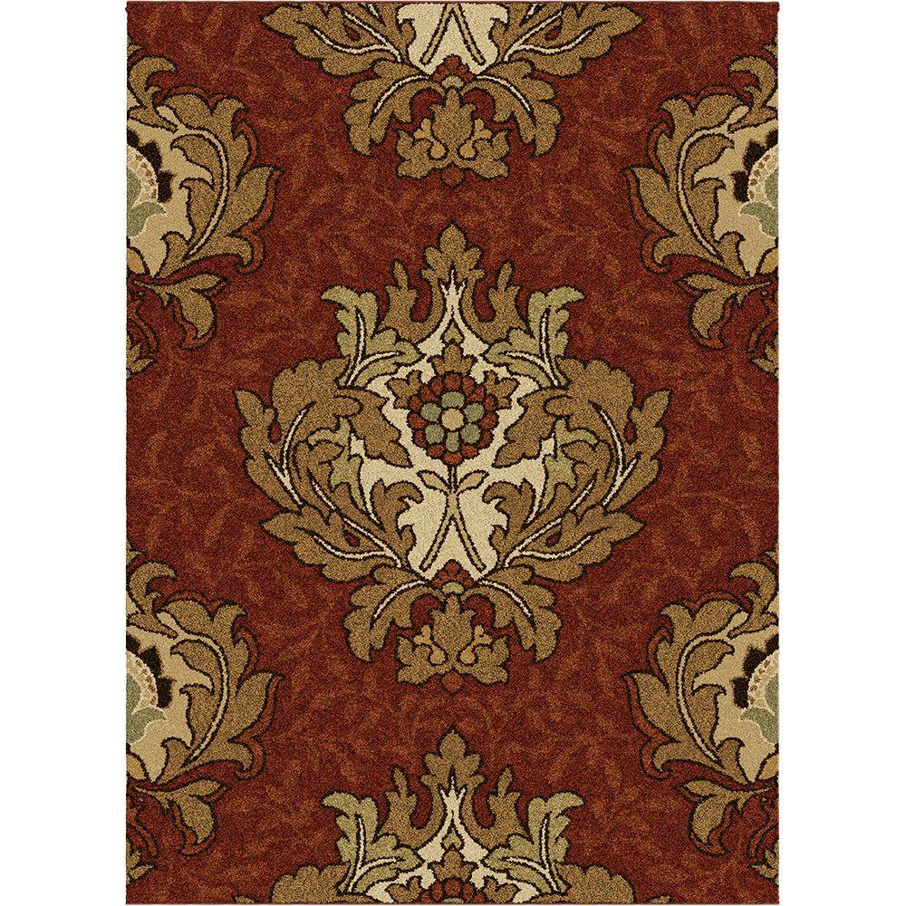 Orian Rugs Harrison Rouge 7 ft. 10 in. x 10 ft. 10 in. Area Rug