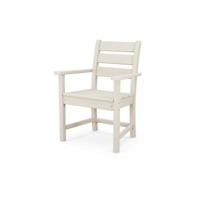 Grant Park Sand Stationary Plastic Outdoor Dining Chair
