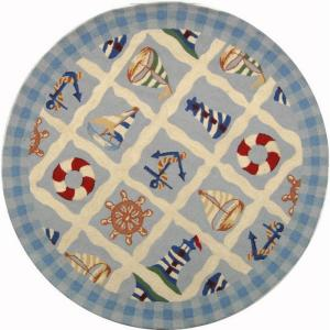Safavieh Chelsea Ivory 6 Ft X 6 Ft Round Area Rug Hk239a