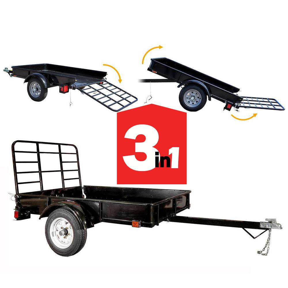 Detail K2 1295 lbs. Capacity 4 ft. x 6 ft. Flatbed Trailer