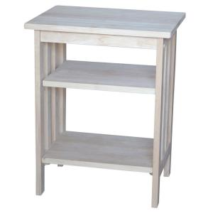International Concepts Unfinished End Table by International Concepts