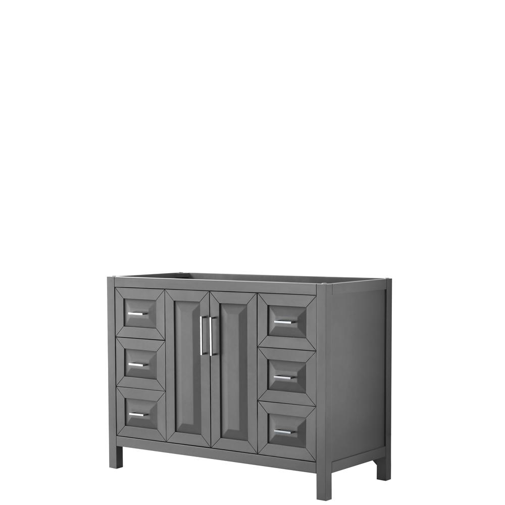 Daria 47 in. Single Bathroom Vanity Cabinet Only in Dark Gray