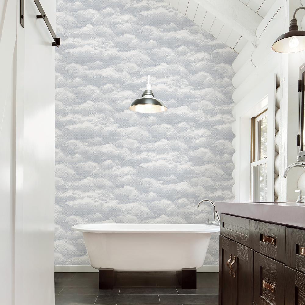 Solstice Dove Cloud Wallpaper Sample