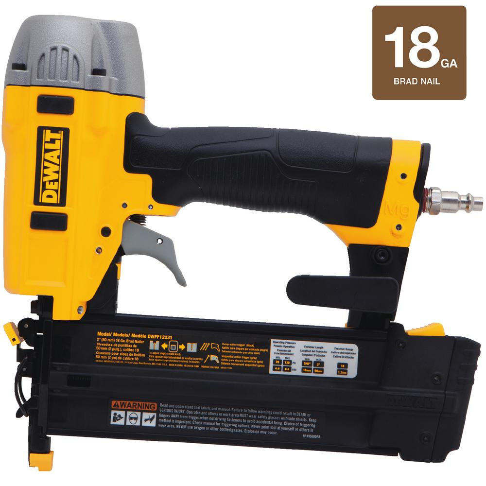 18-Gauge Pneumatic 2 in. Brad Nailer Kit